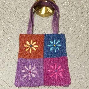 Handbags - Fine beaded spring mini bag